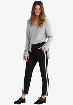Cropped Straight Leg Pants,