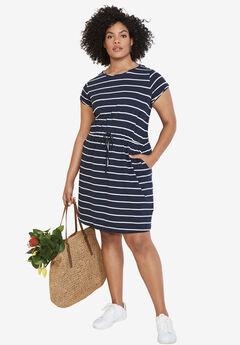 Knit Drawstring Dress by ellos®,
