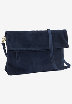 Convertible Suede Clutch Handbag by ellos®,
