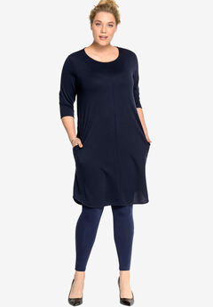 A-line French Terry Dress by ellos®,