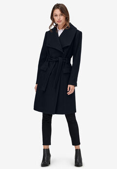 Wrap-Collar Wool-Blend Coat by ellos®,