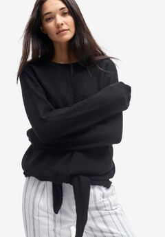 Tie-Front Pullover Sweater by ellos®,