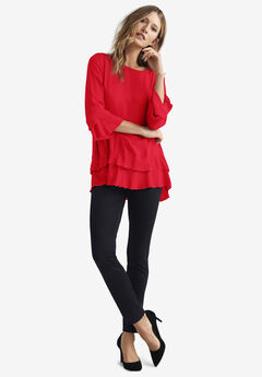 Tiered Ruffle Tunic by ellos®,