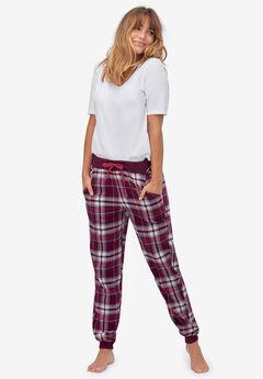 Plaid Flannel Sleep Pants by ellos®, MIDNIGHT BERRY PLAID