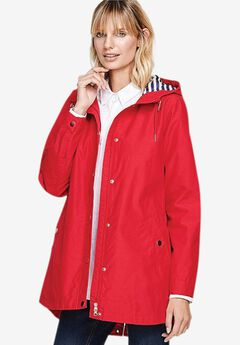 Snap-Front Hooded Raincoat by ellos®,