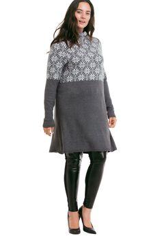 Snowflake Sweater Dress by ellos®,