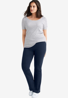 Knit Bootcut Leggings by ellos®, NAVY
