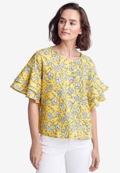 f9337859 Plus Size Short Sleeve Shirts & Blouses for Women | Full Beauty
