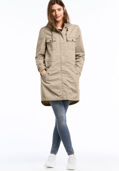 Hooded Twill Anorak Jacket by ellos®,