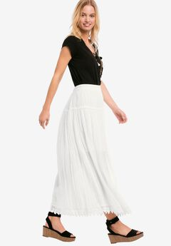 Lace Trim Long Skirt by ellos®,