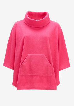 Cowl Neck Fleece Poncho by ellos®,