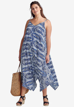 Printed Hanky Hem Dress by ellos®,