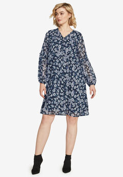 Ruffle Trim Dress by ellos®,