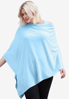 Point Hem Pullover Poncho by ellos®,