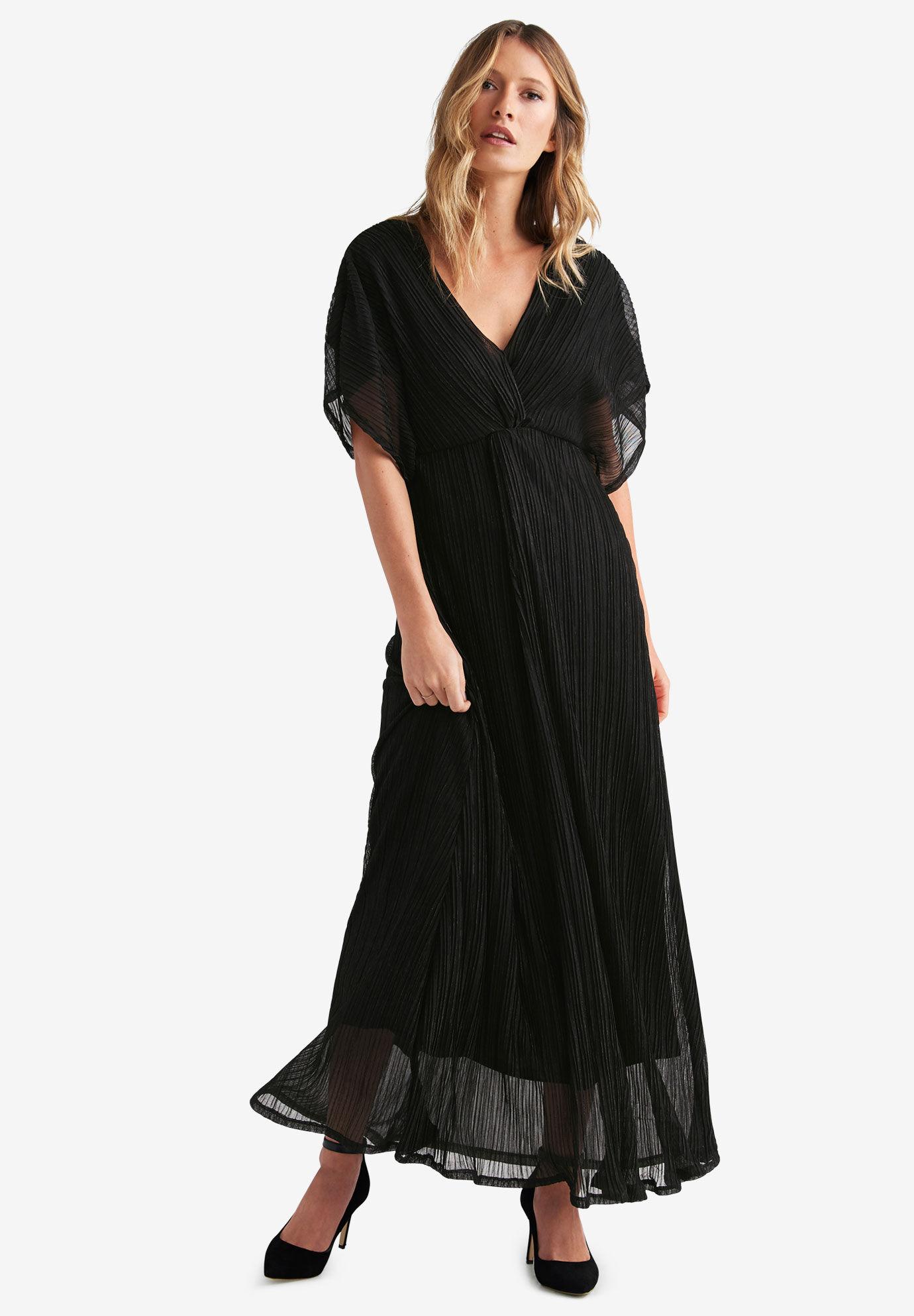 Taupe Chevron Maxi Dress Plus Size