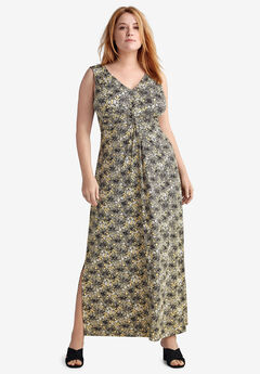 Knot-Front Maxi Dress by ellos®,