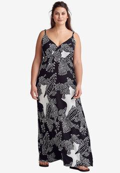 544958e2122 Knit Surplice Maxi Dress by ellos®