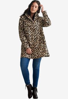 6c1c611094e Animal Print Hooded Raincoat by ellos®