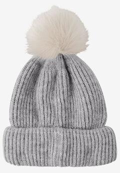 Rib Knit Pom-Pom Hat by ellos®,