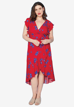 Floral Midi Wrap Dress by ellos®,