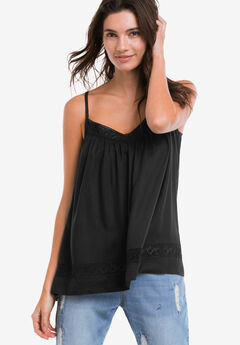Crochet Lace Trim Tank Top by ellos®,