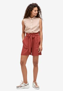 Belted Linen Shorts by ellos®,