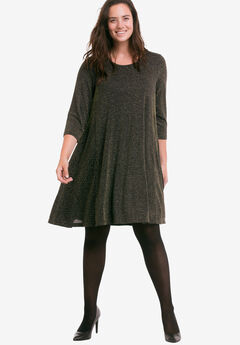 Glitter Knit Dress by ellos®,