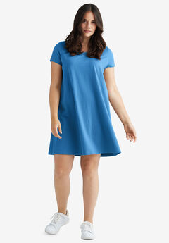 Short Sleeve Tee Dress by ellos®, CORNFLOWER BLUE