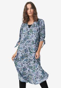 Tie-Sleeve Midi Dress by ellos®,