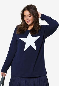 Star Applique Sweater by ellos®,