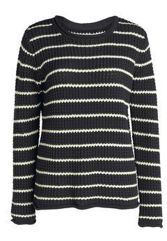 Waffle Stripe Sweater by ellos®,