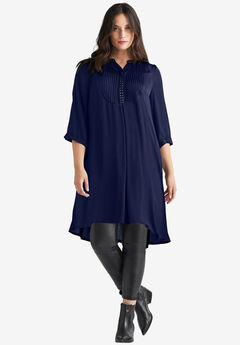 Studded Tunic Dress by ellos®, NAVY
