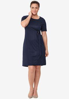 Side Belt Knit Dress by ellos®,