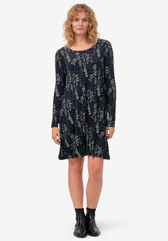Chelsea Knit Dress by ellos®, BLACK MULTI FLORAL