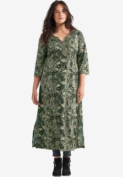 Lotus Maxi Dress by ellos®, BLACK MULTI PRINT