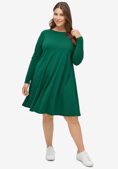 Knit Trapeze Dress by ellos®,