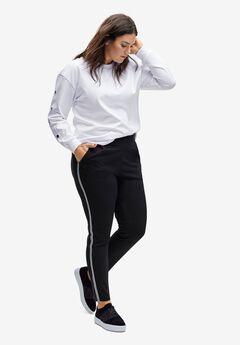 Side-Stripe Knit Pants by ellos®,