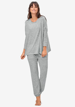 Knit Lounge Top by ellos®, MARLED GREY