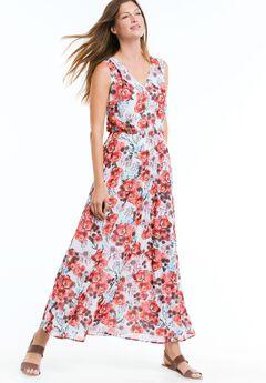 Sleeveless Printed Maxi Dress by ellos®,