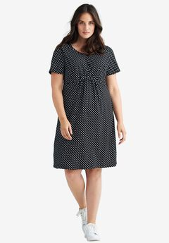 Polka Dot A-line Dress by ellos®,