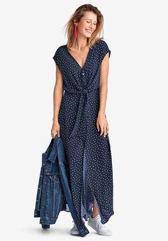 Tie-Front Maxi Dress by ellos®,