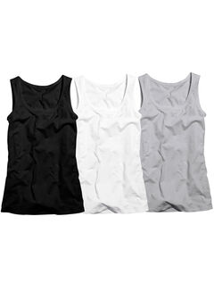 3-pack Sleeveless Tank by ellos®, HEATHER GREY PACK