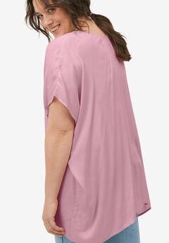 Button-Front Linen-Blend Tunic by ellos®,