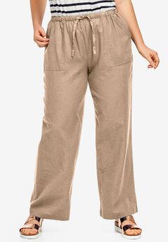 Linen Blend Drawstring Pants by ellos®,