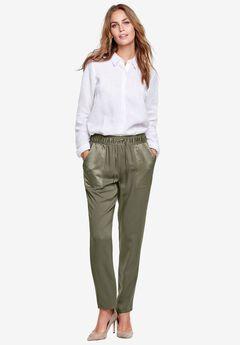 Satin Trim Soft Pants by ellos®,