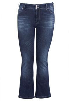Back Elastic Bootcut Jeans by ellos®, MEDIUM STONEWASH