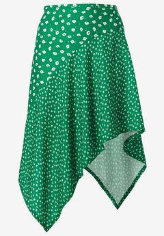 Mixed-Print Asymmetrical Skirt by ellos®,