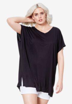 Fluid Knit Oversized Tunic by ellos®,