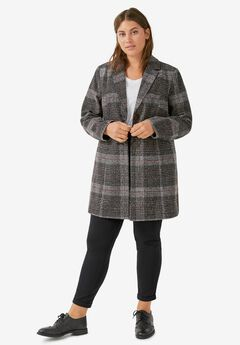Plaid Tweed Coat by ellos®,