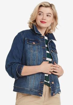 Classic Denim Jacket by ellos®, MEDIUM STONEWASH